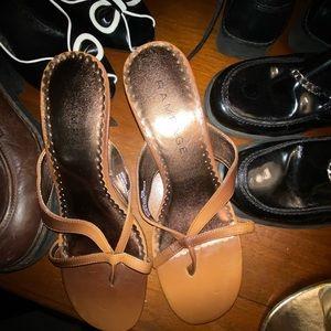 NWOT Rampage size 9 1/2 tan with kitten heel